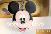 Z142  Adorable Mickey Head Big Keychain Key Ring