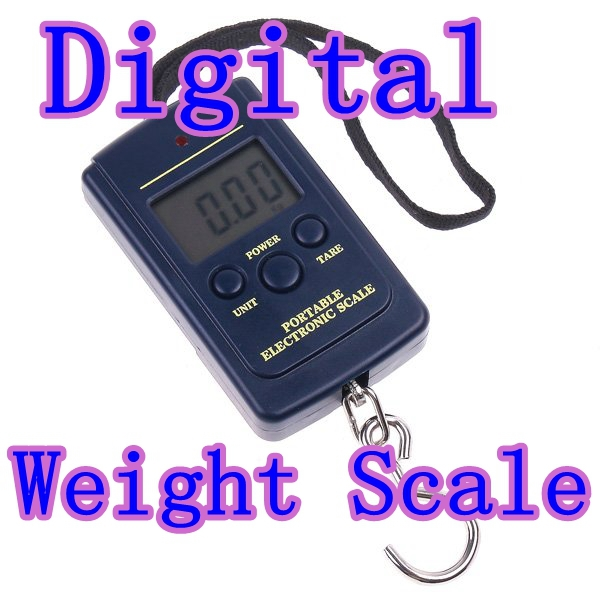 freeshipping 10PCS/lot 20g-40Kg Digital Hanging Luggage Fishing Weight Scale retail(China (Mainland))