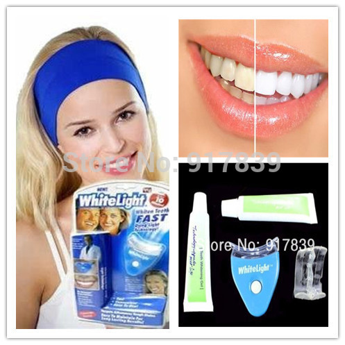 New Arrive 1pcs White Light Teeth Whitening System LED tooth Whiten Kit Personal Dental Care With Retail Package Free Shipping(China (Mainland))