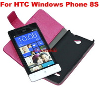 Leather Case Stand Case with Credit Card Slot Cell Phone Case  For HTC Windows Phone 8S A620E