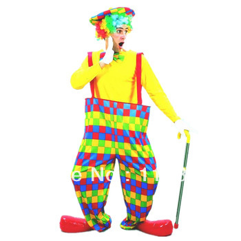 Cos dayses plaid clown clothes big style trousers clown clothes(China (Mainland))