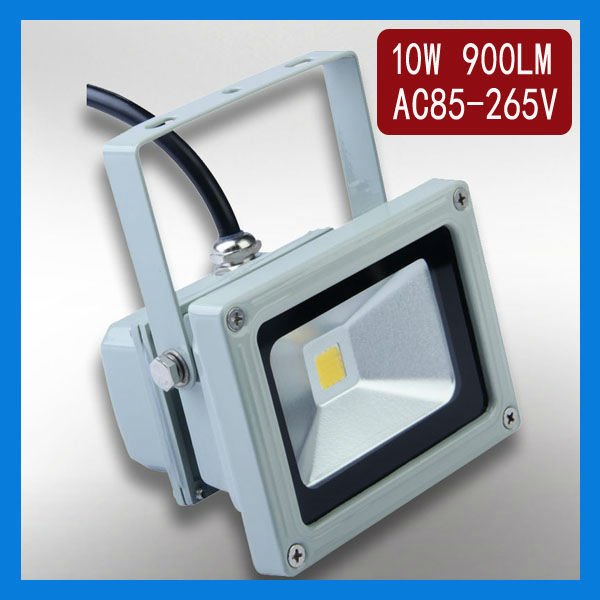10pcs/lot high power 10W LED outdoor LED landscape outside commercial floodlight lighting 900lm 110V 220V(China (Mainland))