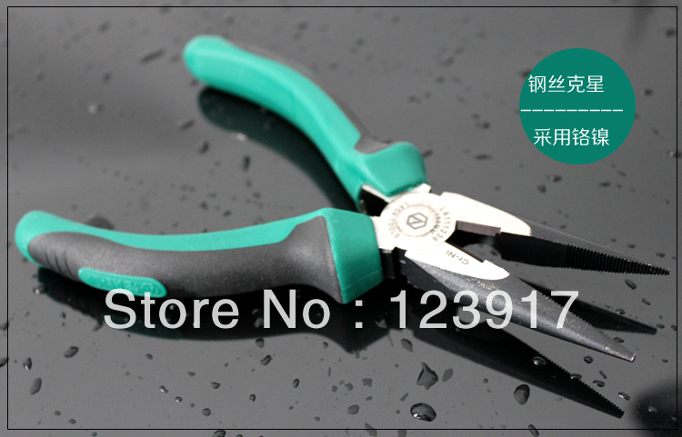 Top Quality!industry grade chromated nickel steel Long Nose Pliers 6Inch/155mm,outdoor multi-fuction tools,FREE SHIPPING(China (Mainland))
