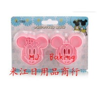 Free shipping new cake tools cute Minnie & Mickey cookie cutter mold DIY fondant cake decorating moulds bakeware 2pcs/ set