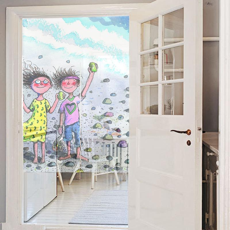 Op maat jacquard deur gordijnstof schilderij gedrukt 80cm breedte