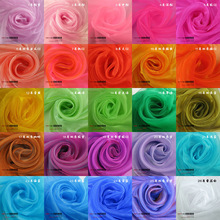 75cm wide sheer crystal chenille organza fabric for wedding decoration 50yds per lot(China (Mainland))