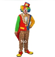 New Arrival!!Free shipping swallowtail clown costumes,men funny party dress,halloween costumes   JQ35