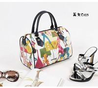 Fly bag white collar fashion handle bag pillow pack beauty pattern sports women's handbag t0034