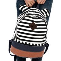 school bag children  stripe   travel color block decoration canvas schoolbag bags   korean  backpacks women pupil