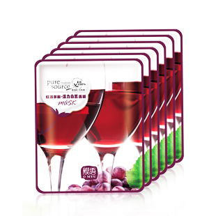 Red wine polyphenols plant mask 12 pore moisturizing whitening moisturizing antioxidant mask(China (Mainland))
