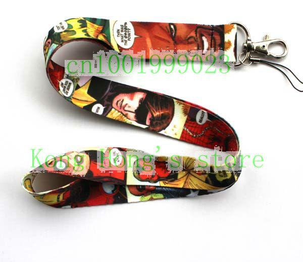Hot 10pcs superhero Mobile Phone Accessories Mobile Phone LANYARD Neck Strap WHOLESALE Free shipping(China (Mainland))