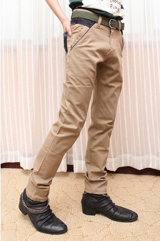 Loose Pants Water Wash Khaki