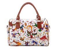 Fly bag new arrival 2013 circus pattern messenger bag portable multi-purpose bucket handbag