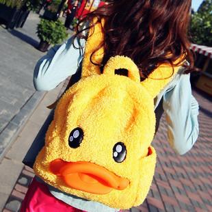 Autumn and winter beauty jiada had the stereoselectivity duckbill bag b . duck plush double-shoulder cartoon duck bag(China (Mainland))