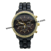 clearance sale!!!30pcs/lot quartz watch,chronograph design acrylic unsex watch,2 styles fashion watch
