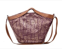 Women Classic Lady Animal Snake Skin Pattern Totes Multi Function Shoulder Carry Bag P2354