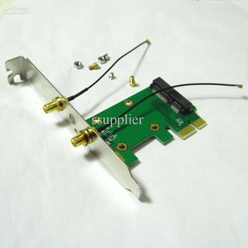 2in1 full + half size wireless wifi mini pci-e card to pci-e pci express adapter