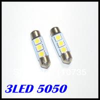 wholesale 100pcs/lot 31MM 36MM 39MM 41MM 3SMD 5050SMD C5W Interior Festoon car LEDs Bulb White auto led lamp