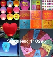 New creative multicolour solid fuel outdoor wishing lamp printing sky lantern Kongmin light 20 pieces free shipping wholesale