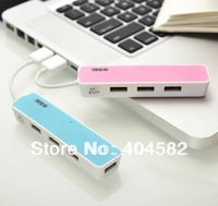 new arrival 50pcs/lot  4 port USB HUB novelty cool USB hub +Freeshipping