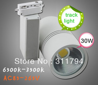 10PCS/lot LED Track Lamp 30w AC85~265V white/warm white High Modern energy saving track light spotlights free shipping