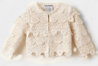 Wholesale 2014 new design hot sell girl lace cardigan/jacket,children Crochet  sweater,5pcs/lot brand name