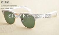 New Arrival men Sun glasses women's anti-uv CLUBMASTER Polarized sunglasses3016 female High Quality Low Price free shipping