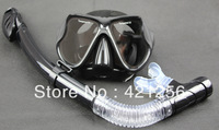 2013 HOT SALES High Quality Scuba Diving Snorkeling Silicone Mask Set(black) -04