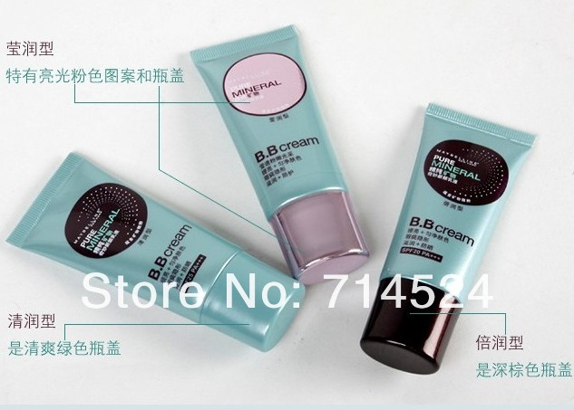 Free shipping ,2013 brand new Pure Mineral Original BB cream 30ml skin whitening moisturize sun block sensitive skin care(China (Mainland))