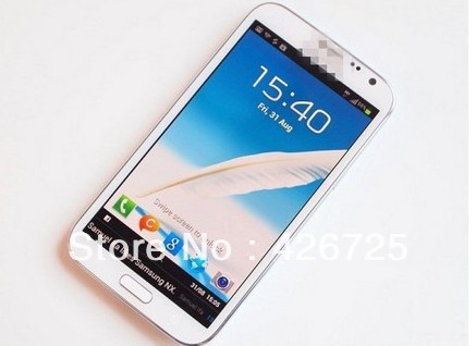 "New 1280*720 1:1 original note ii N7100 phone MTK6577 1.2ghz Android 4.1 5.5"" 4GB rom 1GB RAM 3D game Galaxy note 2 phone(China (Mainland))"