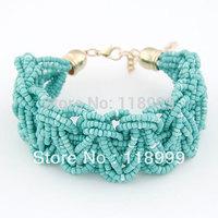 2013 New Arrived Strand Beaded Bracelets Braided Beads Bracelets Boho Jewelry