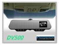 HKpost Free shipping !! DV500 H.264 HD 1080p G-sensor Car Mirror Camera Video DVR Recorder+ Bluetooth