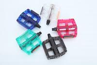 Bicycle pedal plastic mountain bike foot pedal multicolour transparent plastic pedal