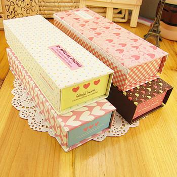 Middot . multicolour sponge paper pencil box stationery box storage box jewelry box