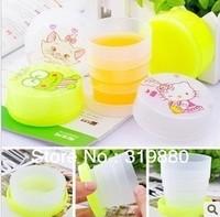 Cute folding Telescopic cup Travel Mug 5pcs/lot Random style