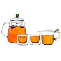 Glass Teapot Glass Set passphrase flowers, large capacity
