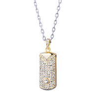 4GB 8GB 16GB 32GB 64GB Plated Crystal USB Flash Drive Necklace (Gold)  Free Shipping