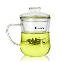 transparent  belt filter  with lid foam flower tea  office   , Glass Cups
