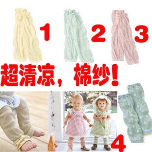 Hot sell Cotton gauze thin baby summer ankle sock child kneepad set cuish foot wrapping sets baby socks relent(China (Mainland))