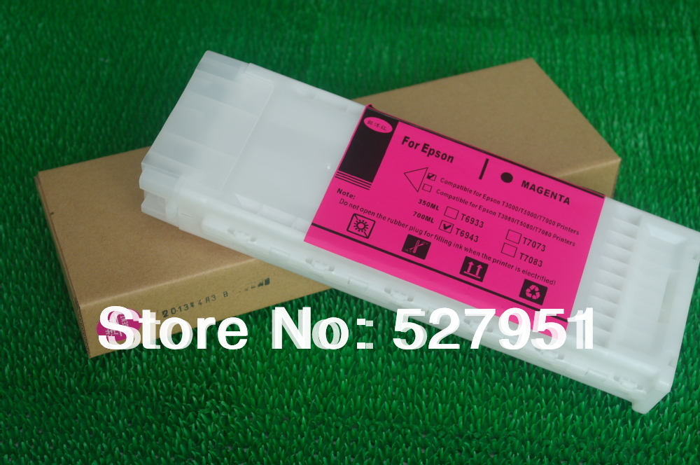 Factory Price refill ink cartridge for Epson surecolor T3000,T6941-T6945,700ML,5 Colors,ARC Chip(China (Mainland))