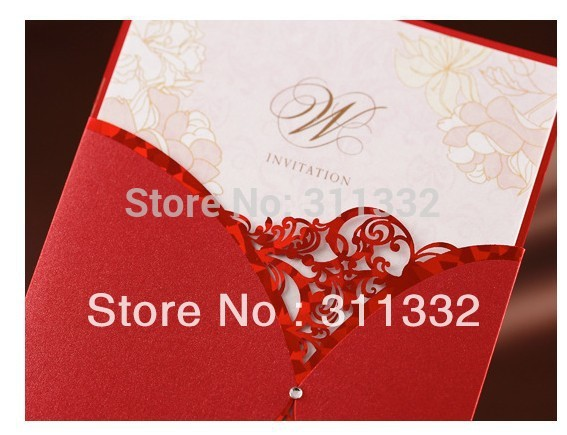 Free shipping SPW1022 Diamond Elegant creative wedding Invitations Cards Printable and Customizable Free shipping(China (Mainland))