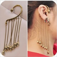 Free Shipping SKull Tassel Fringe Ear Cuff Gothic Punk Fancy Earrings