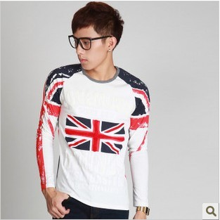 Long-sleeve flag long-sleeve T-shirt male autumn(China (Mainland))