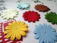 Scrapbook 3.7cm Mixed Color Paper Flower For Scrapbooking Decoration 7Color 70pcs/lot Free Shipping Wholesale Diy Accessory