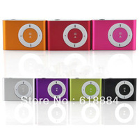 Wholesale 5pcs/lot! Free Shipping MINI Flash Gift clip MP3 Music Player with 8 color,Support 1-8GB SD(TF) Card