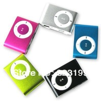 Wholesale 5pcs/lot clip mp3 music player with card slot mini mp3 player 8 colors & Free Shipping(only include mp3)