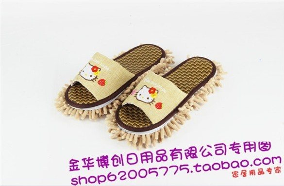 2013 newest couples rattan mat bamboo charcoal bursh to slippers and Water imbibition is strong do not fade lazy slippers(China (Mainland))