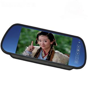 7 car rear-view mirror display webcam dvd reversing av(China (Mainland))