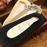 Summer seamless ultra-thin sock slippers female silica gel medialbranch slip-resistant invisible sock slippers sock female socks