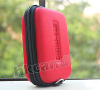 Red DC Hard Bag Digital Camera Case Pouch chain for Canon,nikon SONY,Fuji samsung casio pentax leica panasonic kodak Olympus